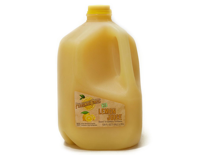 Gallon jug of fresh lemon juice