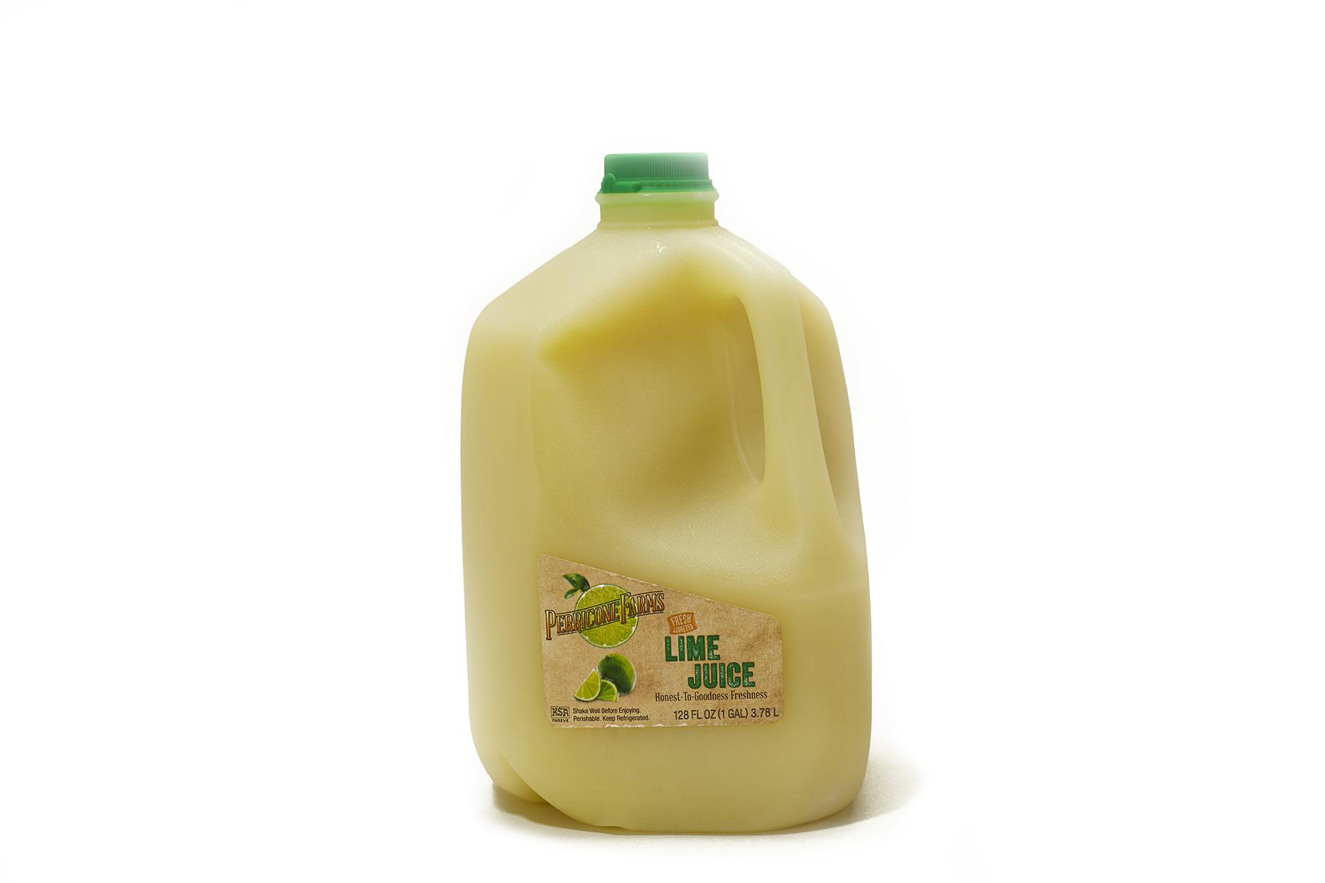 Gallon jug of fresh lime juice