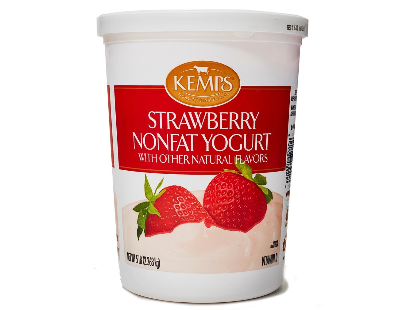 Kemps Strawberry Nonfat Yogurt