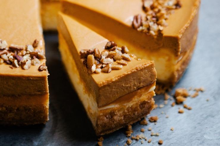 pumpkin cheesecake slice